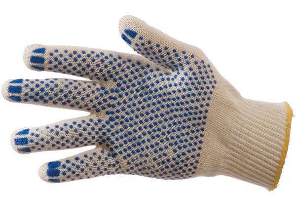 Купить Перчатки трикотажные ПВХ Точка класс 10, 4-ти нитка