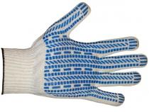 Перчатки ХБ ПВХ Протектор класс 10, 5-ти нитка. Уменьшенная фотография.