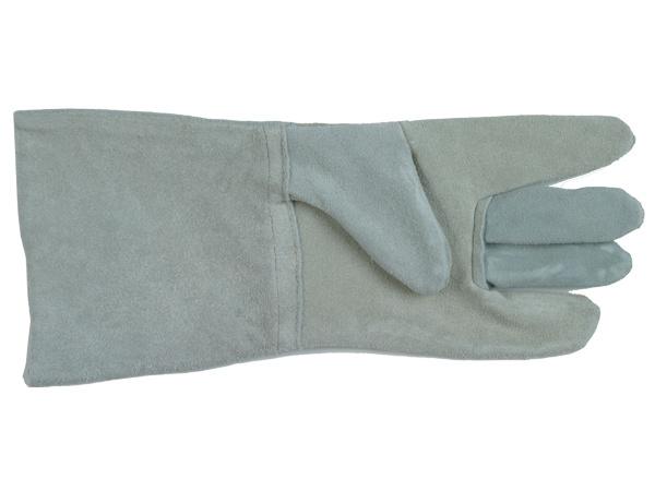 Купить Краги спилковые пятипалые серые с подкладкой