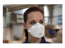 Респиратор для защиты от пыли и туманов Aura 9320+. Уменьшенная фотография.