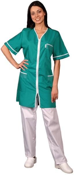 Халат медицинский женский с коротким рукавом