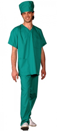 Костюм хирурга массажиста зеленый. Уменьшенная фотография.