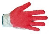 Перчатки с одинарным латексным покрытием . Уменьшенная фотография.