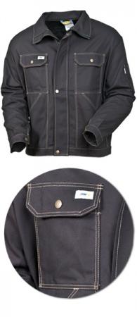 Куртка мужская SWW модель 471-90 Черная из хлопка. Уменьшенная фотография.