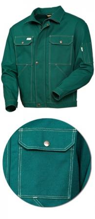 Зеленая рабочая куртка модель 471-22 100% хлопка. Уменьшенная фотография.