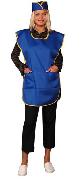Фартук официанта продавца в комплекте синий