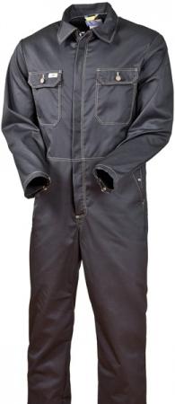 Спецодежда комбинезон ХБ черный модель 830-FAS-90. Уменьшенная фотография.