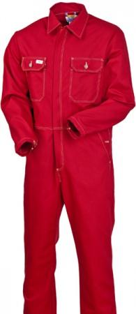 Красный рабочий комбинезон х/б 100% хлопок 830-FAS-83. Уменьшенная фотография.