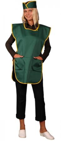Фартук официанта продавца в комплекте зеленый. Уменьшенная фотография.