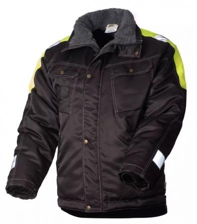 Куртка рабочая мужская зимняя двухцветная с удлинённой спинкой на стеганой подкладке. Уменьшенная фотография.