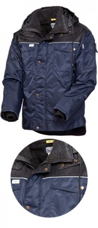 Куртка зимняя SWW  419 световозвращающий кант. Уменьшенная фотография.
