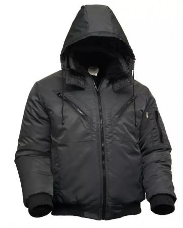 Зимняя мужская рабочая укороченная куртка на стеганой подкладке . Уменьшенная фотография.