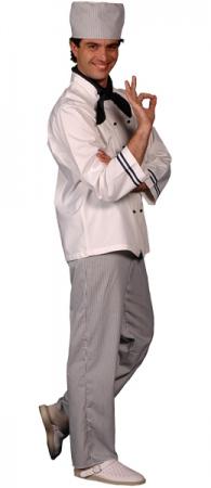 Куртка поварская белая мод.0196-wd. Уменьшенная фотография.