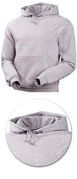 Толстовка с капюшоном модель 1735 серая