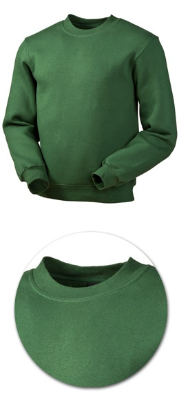 Толстовка с начесом модель 1734 зеленая