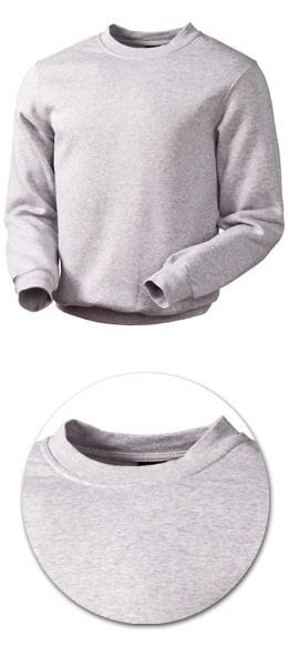 Толстовка с начесом модель 1734 серый меланж