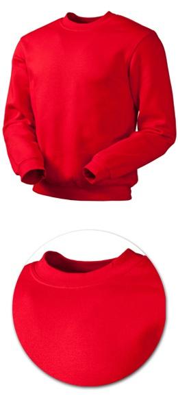 Толстовка с начесом модель 1734 красная