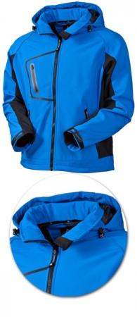 Мужская куртка Acode 1444 софтшелл с капюшоном. Уменьшенная фотография.