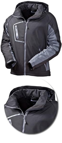 Куртка Acode модель 1444 черная с капюшоном