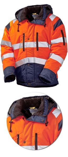 Оранжевая зимняя куртка SWW 4677T-77/14 Дорожник
