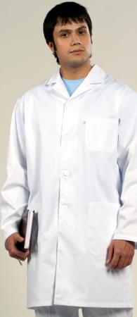 Халат медицинский мужской белый 1-463 Тередо. Уменьшенная фотография.