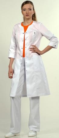 Халат 3/4 медицинский женский 1-596 Сатори. Уменьшенная фотография.