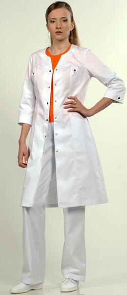 Халат 3/4 медицинский женский 1-596 Сатори