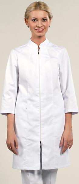 Медицинский халат белый  рукав 3/4 мод.1-910 Сатори