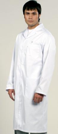Классическая модель 1-496 белого мужского халата. Уменьшенная фотография.