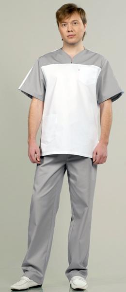Комплект медицинской одежды 543 светло серый