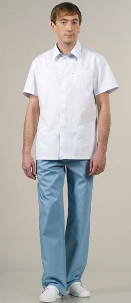 Костюм медицинский модель 854 белый с сизым