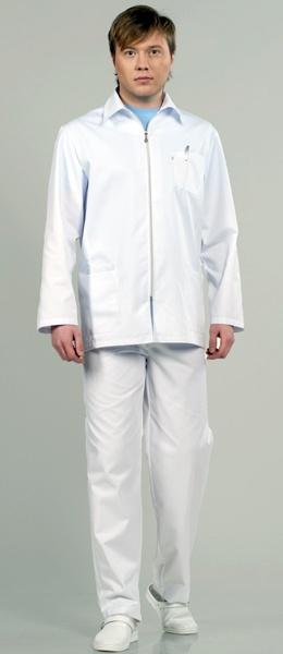 Мужской костюм для мед персонала 8-511 на молнии