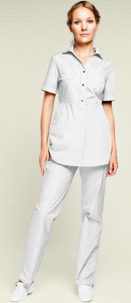 Белый медицинский костюм Камея модель 948