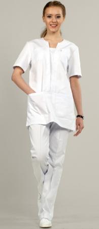 Костюм женский 901-W цвет белый, легкая ткани. Уменьшенная фотография.