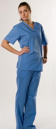 Костюм хирурга женский  hm чистый голубой. Уменьшенная фотография.