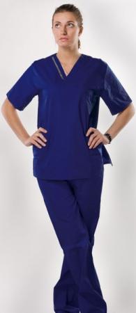 Хирургический костюм hm практичный синий. Уменьшенная фотография.