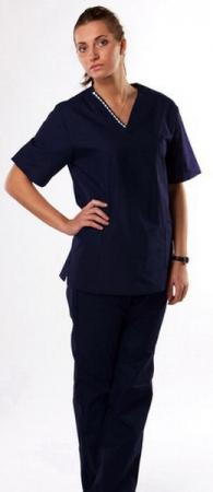 Костюм хирурга женский hm необычный темно-синий. Уменьшенная фотография.