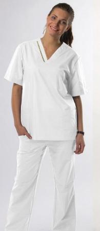 Классический медицинский костюм hm  в белом цвете. Уменьшенная фотография.
