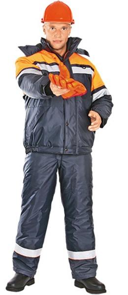 Модель костюма АКТИВ с оранжевой отделкой
