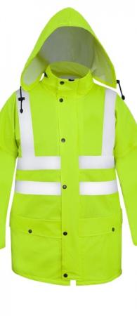 Куртка сигнальная PROS-085 полиамидный трикотаж ПУ. Уменьшенная фотография.