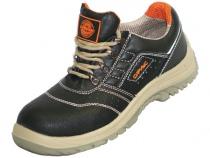 Полуботинки Универсал черные обувная кожа. Уменьшенная фотография.
