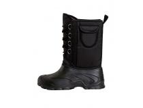 Дутики ЭВА мужские (Д-014 ч) на шнуровке с чулком (-40С), цв. черный. Уменьшенная фотография.