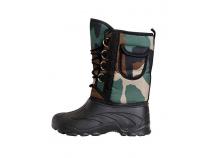 Дутики ЭВА мужские (Д-014 к) на шнуровке с чулком (-40С), камуфлированные. Уменьшенная фотография.