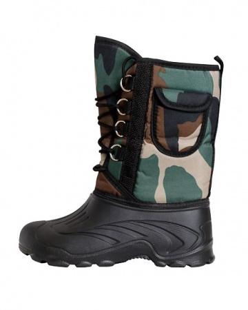 Купить Дутики ЭВА мужские (Д-014 к) на шнуровке с чулком (-40С), камуфлированные