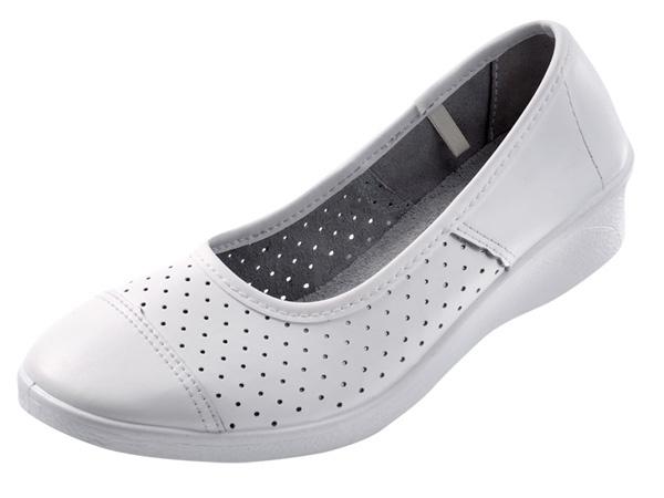 Купить Туфли рабочие АНЯ белые перфорированная кожа